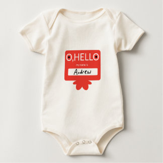 O hello my name is Andrew Baby Bodysuit