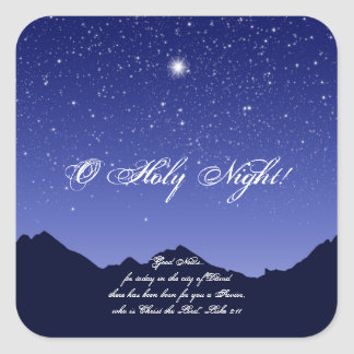 O Holy Night Christmas Sticker
