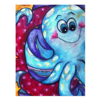 O is for Octopus Postcard