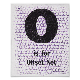 O is for Offset Mesh Poster