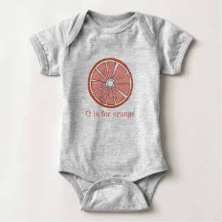 O is for Orange Citrus Fruit Slice Foodie Baby Bodysuit
