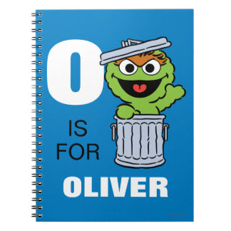 O is for Oscar the Grouch | Add Your Name Spiral Notebook