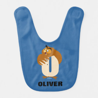 O is for Owl | Add Your Name Bib