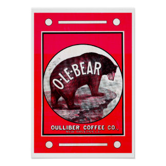 O-Le-Bear Coffee Poster