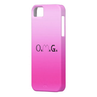 O.M.G. Retro Fluoro Pink iPhone Case iPhone 5 Covers