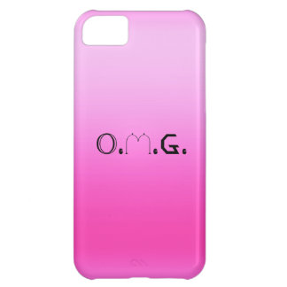 O.M.G. Retro Fluoro Pink iPhone Case iPhone 5C Cover