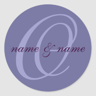 O monogram label - personalize first names