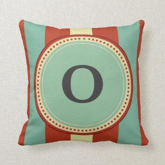'O' Monogram Throw Pillow