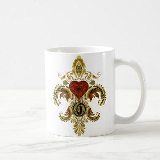 O Mug Fleur de lis Pick your style see notes