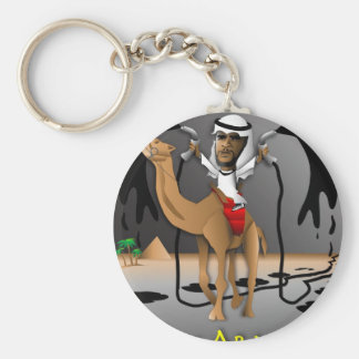 O of Arabia Basic Round Button Keychain