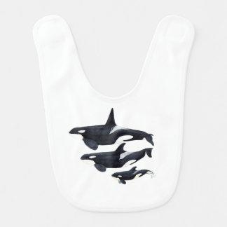 O.orca-fond transparent bib