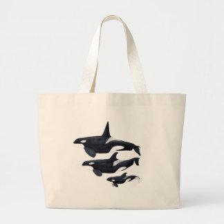 O.orca-fond transparent large tote bag
