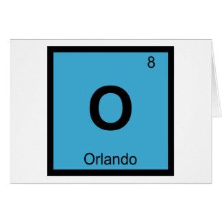 O - Orlando Florida City Chemistry Periodic Table Card
