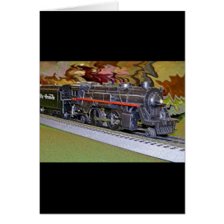 O Scale Model Train Card