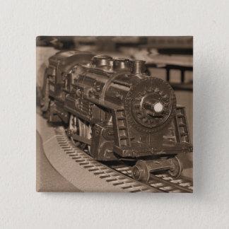 O Scale Model Train - Sepia Tone 2 Inch Square Button