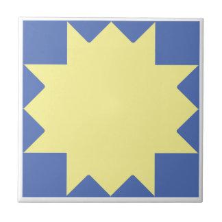 """o sol/the sun"" digital tile traditional design"