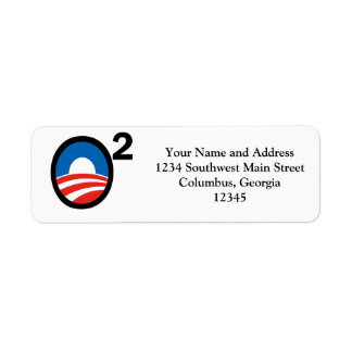 O Squared Obama's Second Term Return Address Label