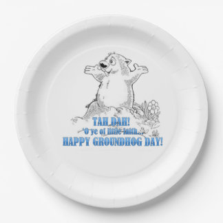 'O Ye Of Little Faith Groundhog Day Party Paper Pl 9 Inch Paper Plate