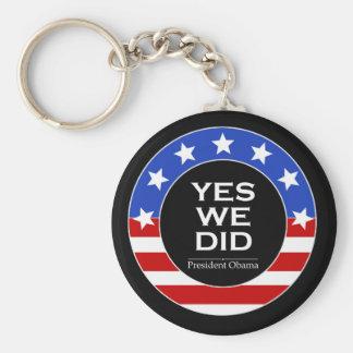 O Yes We Did Stars - Keychain