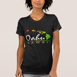 OAHU Hawaii (Distressed Design) T-Shirt