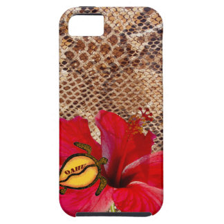 Oahu Hawaii Hibiscus on Snakeskin iPhone 5 Cases