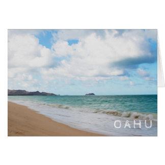 Oahu Hawaii Ocean Waves & Beach Card