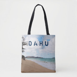 Oahu Hawaii Ocean Waves & Beach Tote Bag