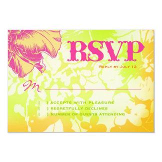 OAHU RSVP Floral Linen Paper Card