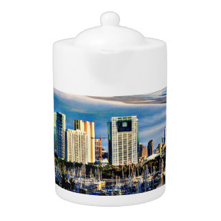 Oahu Skyline/Marina Medium Teapot
