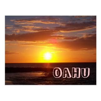 Oahu Sunset Postcard