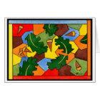 Oak Acorns and Leaves Card