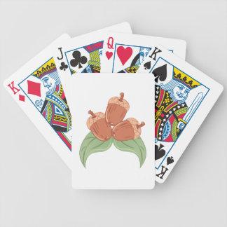Oak Acorns Poker Deck
