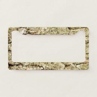 Oak Bark License Plate Frame