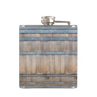 oak barrel pattern flask