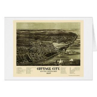 Oak Bluffs, MA Panoramic Map - 1890 Card