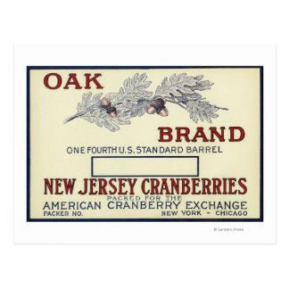 Oak Brand Cranberry Label Postcard