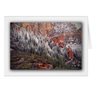 Oak Creek Canyon Snow Card
