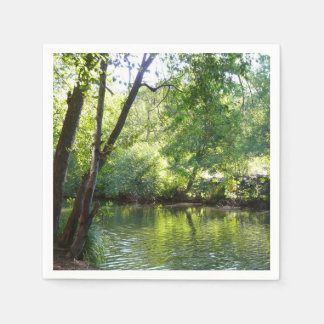 Oak Creek I in Sedona Arizona Nature Photography Paper Napkin