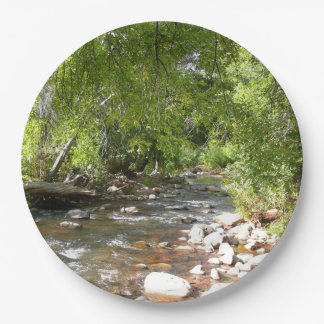 Oak Creek II in Sedona Arizona Nature Photography Paper Plate