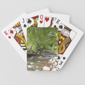 Oak Creek II in Sedona Arizona Nature Photography Playing Cards