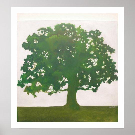 Oak in Spring Poster