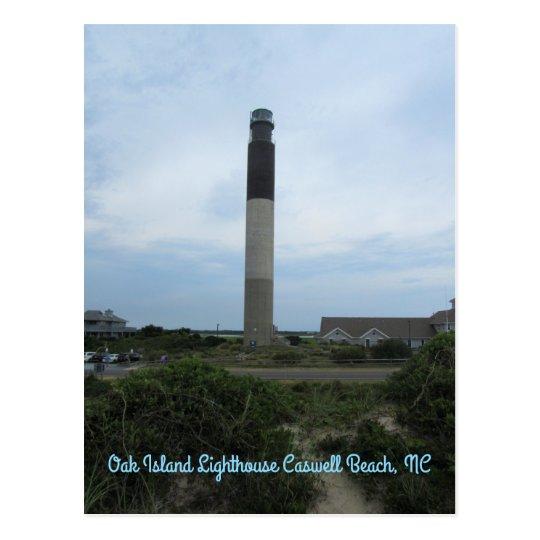 Oak Island Lighthouse Vertical Postcard
