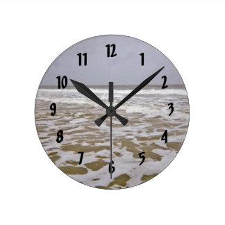 Oak Island Shores Along North Carolina Round Clock
