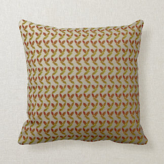 Oak Leaf and Acorn Pattern Throw Pillow