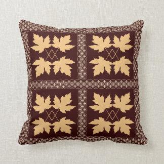 Oak Leaf Brown Gold Nature Popular Pillows