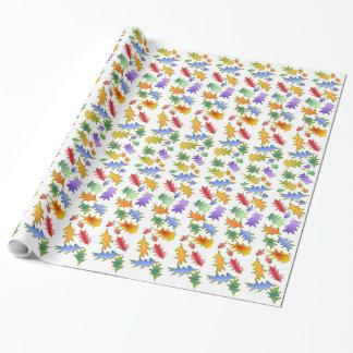 Oak Leaf Fantasy Wrapping Paper