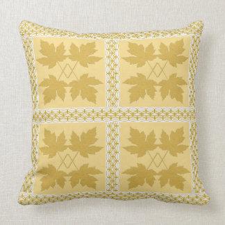 Oak Leaf Gold White Nature Popular Pillows