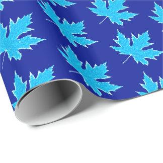 Oak leaf - ice blue and white