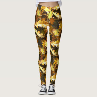 Oak leaf leggings