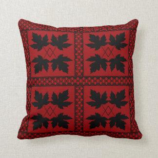 Oak Leaf Red Black Nature Popular Pillows
